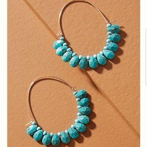 Anthropologie Earrings Turquoise Boho Inspired